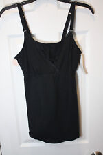 NWT Gilligan & Omalley Size S Nursing Black Lace Cami Top One Hand Release Small