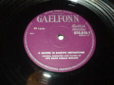 "PIPE MAJOR DONALD MACLEOD A Course in Bagpipe Instructions 10"" LP Gaelfonn Scot"