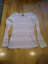 Women's Express Lace Top Blouse Cream Off White Small