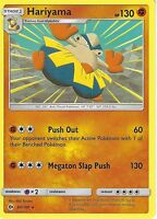 POKEMON SUN & MOON: HARIYAMA - 68/149 RARE CARD
