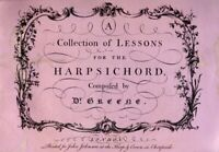 A Collection of Lessons for the Harpsichord : ... - Maurice Greene: Davitt Mo...