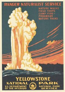 Yellowstone National Park Wyoming Poster Art Postcard
