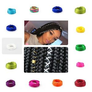 HAIR STRING MULTIPLE COLOURS BOHO LOCS BRAIDING HAIR CORD ACCESSORIES UK LOT