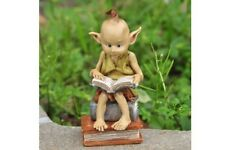 Miniature Dollhouse Fairy Garden - Garden Pixie Reading Book - Accessories