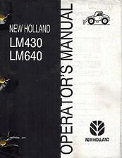 NEW HOLLAND LM430 LM640  TELEHANDLER OPERATORS MANUAL