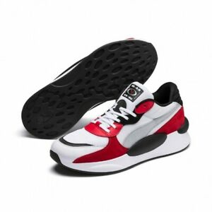 Puma RS 9.8 Space White Red Low Lace Up Mens Running Trainers Casual New in Box