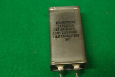 NOS NIB Polystyrene .5 uF 200 Vdc Audio Receiver Oil Can Capacitor Tested