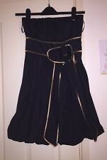 Miso Strapless Silky Feel Black Bubble Hem Dress, Size 8 - Stunning!