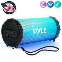 Pyle PBMSPRG3  Wireless & Portable Stereo Radio Speaker with Built-in RGB Lights