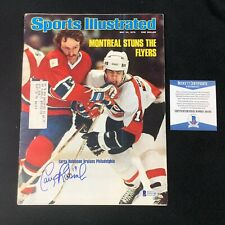 Larry Robinson Signed Montreal Canadiens 1976 Sports Illustrated Beckett COA