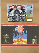 Rare Micro Beer Labels 2-Row Piedmont !