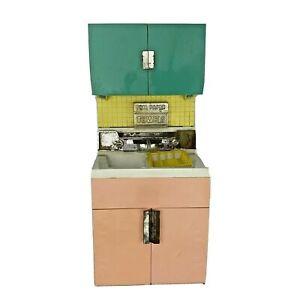 Vtg 1960's Deluxe Reading Dream Kitchen Toy Kitchen Sink