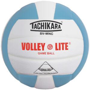 Tachikara Volley-Lite Color Volleyball - Powder Blue/White