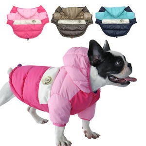 Winter Dog Coat Waterproof Puppy Pet Clothes Reflective Jacket Hoodie Yorkie Pug