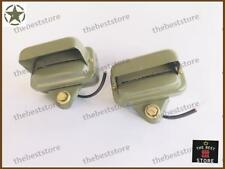 A PAIR OF WILLYS JEEP MILITARY FRONT FENDER BLACKOUT  LIGHT M38 M38A1 M170 12V