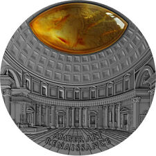 Renaissance Amber Art 2 oz Antique finish Silver Coin 5$ Niue 2017