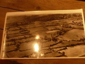 PHOTO AERIENNE 27 cm x 45 cm LAPIE 1958 bocage manceau a l ouest du mans