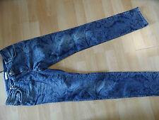 PROMOD coole skinny Jeans SLIM im Paisleymuster blau Gr. 36  NEU ZC316
