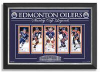 Edmonton Oilers Legends Facsimile Signed Wayne Gretzky, Mark Messier, Grant Fuhr