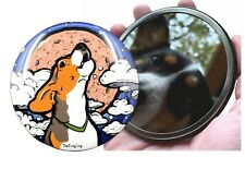Beagle Dog Full Moon Art Pocket Mirror Purse Accessories and Collectible Gifts