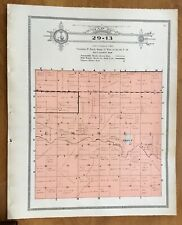 New Listing1915 Plat Map Twnsp 29-13 Emmet, Holt County, Nebraska Genealogy Ancestry