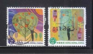 HONG KONG CHINA 2013 HEARTWARMING LOCAL & AIRMAIL COMP. SET OF 2 STAMPS F. USED