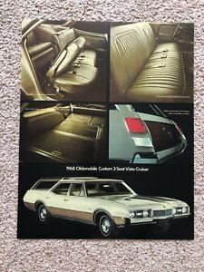 1968  Oldsmobile Custom 3-seat Vista Cruiser  showroom display sign.