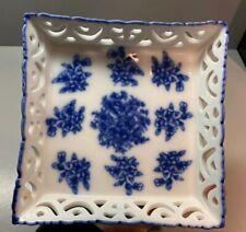 Basic Porcelana Blue White Square Dish