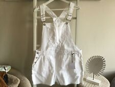 New Look Sz 16 Bnwt White Shorts Dungarees
