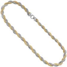 Collar Oro 375 Oro Blanco Oro Amarillo Bicolor 48cm Cadena de Oro