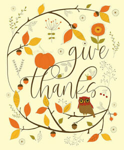 Give Thanks Panel by Riley Blake Designs *Free Domestic Shipping*