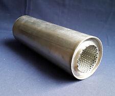 "63 mm de diámetro (2 ½ "") de 4 pulgadas ronda x 14"" de largo Universal De Acero Inoxidable De Escape Silenciador"