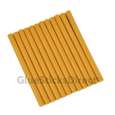 "GlueSticksDirect Golden Rod Colored Glue Sticks mini X 4"" 12 sticks"