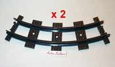 Lego Plastic Track x2 for Mini-Train Cart 6-Stud Narrow Curve 6857 Trolley