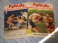 2 riviste PUGILATO anno II n. 3 - 4 1957 mensile di MARIO SANVITO D' AGATA - LOI
