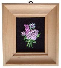 Casa De Muñecas Hecho a mano en miniatura de los años ochenta Bordado luz foto marco de la Flor Rosa