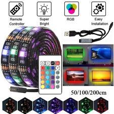 1M 5050 RGB LED Strip Lights Bar TV Back Lighting USB 24 Key APP Remote PM