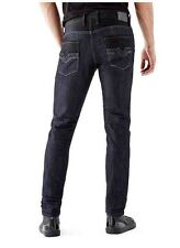 Guess Slim Tapered Jeans Smokescreen Wash Black Contrast Cotton/Polyester Sz 31