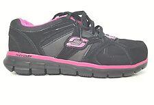 Skechers Womens Slip Resistant Alloy Toe Sneaker Size 11 Sandlot Memory Foam NEW