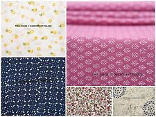 Lot 50 Meter Assorted Cotton Hand Block Print Fabric Indian Natural Dyed Fabrics