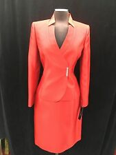 """TAHARI SKIRT SUTI/NEW WITH TAG/RETAIL$280/SIZE 8/RED/SKIRT LENGTH 23""""/LINED/"""