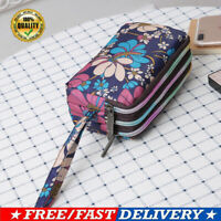 Women Triple Zipper Clutch Bag Wallet Bag PursePhone Case Organizer Bag