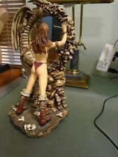 Femme Fatales Figure with a Mirror Fantasy Decor