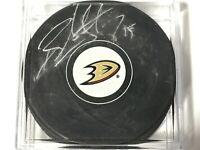 Ryan Getzlaf #15 Signed Puck Autograph Anaheim Ducks NHL Hockey Team Logo Player