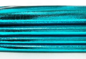 METALLIC TURQUOISE BLUE Lambskin leather hide skin pelt skins hides 6+sqf