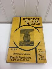 Vintage Perfect Picture Puzzle # 1216 39 Homeward Bound Tall Ship Sailing 24372