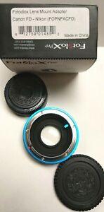 Fotodiox Pro Lens Adapter - Canon FD & FL 35mm SLR lens - Nikon F Mount SLR BODY