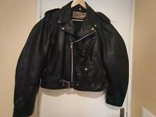 VINTAGE  PERFECTO SCHOTT 618 BLACK LEATHER SIZE 44 (L/XL)