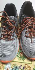 Womens Asics Brand Tennis shoes Size 8 Black Grey Orange Sneakers Gel Venture 6