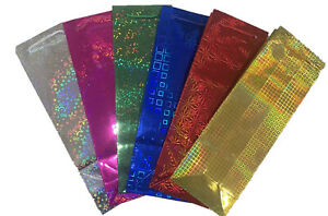 6x Wine Bottle Gift Bags Champagne Holographic Shine Paper Colour Party Gift Bag
